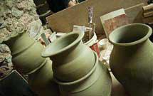 Vasi di argilla dopo la cottura