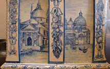 Dettaglio di una stufa decorata a mano 4
