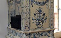 Stufa ad olle classica presso un'abitazione ristrutturata di recente