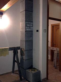 Realizzazione della canna fumaria - foto 1 - StufArte.it la passione per le stufe tradizionali trentine