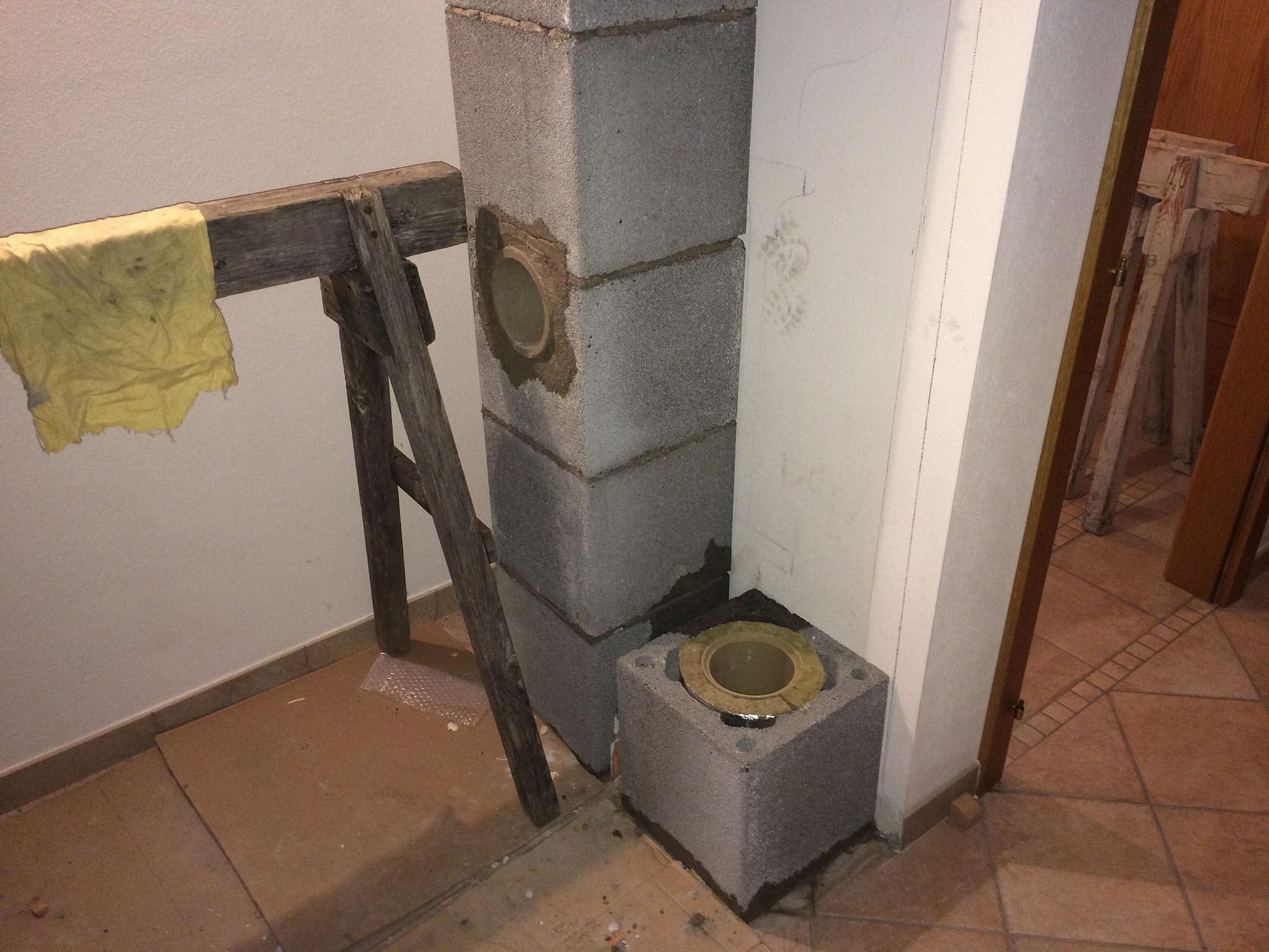 Realizzazione di una stufa a olle antica - Stufa a metano con canna fumaria ...