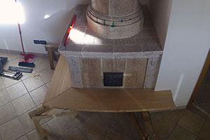 Realizzazione della panca in legno - foto 1 - StufArte.it la passione per le stufe tradizionali trentine