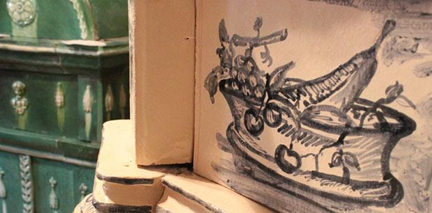 Decorazione personalizzata e fatta a mano in esposizione - StufArte.it